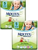 TWIN Pack of Moltex Nature No 1 Nappies (Junior Size 5)