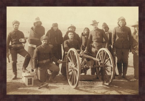 Artillery Gunners with field piece 20x30 Archival Ink-Jet, Print and Framed