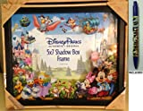 Disney Parks Storybook Shadowbox 5x7 Photo Frame - Disney Parks Exclusive & Limited Availability + Mickey Pen Included