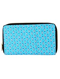 Beautiful Turquoise Printed Cotton Floral Clutch Bag For Women's By Rajrang