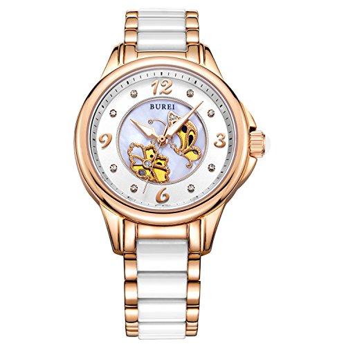reloj burei blanco con mariposas