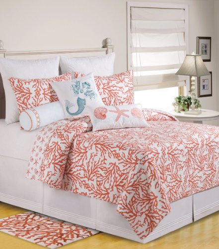 Coral Colored Bedding Sets back-1036706