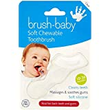 Brush-Baby Soft Clear Chewable Toothbrush (10months - 3years) - Massages, Soothes & Cleans