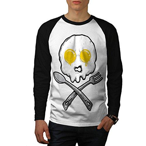 frittata-scheletro-al-forno-uomo-nuovo-bianca-maniche-nere-s-baseball-manica-lunga-maglietta-wellcod