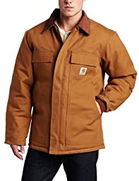 Carhartt Men\'s Arctic Quilt Lined Duck Traditional Coat C003,Brown,Large