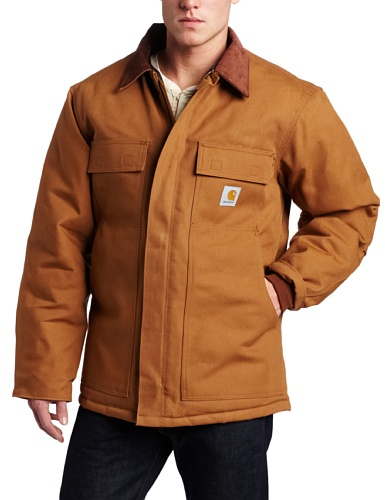 Carhartt Men's Big & Tall Arctic Quilt Lined Duck Traditional Coat C003,Brown,Large Tall (Carhartt Snap Hood compare prices)