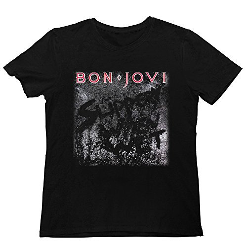 Men's Bon Jovi Slippery When Wet T Shirt