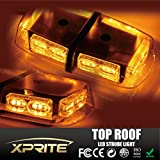 Xprite Gen 3 Amber Yellow 36 LED 18 Watts Hign Intensity Law Enforcement Emergency Hazard Warning LED Mini Bar Strobe Light with Magnetic Base