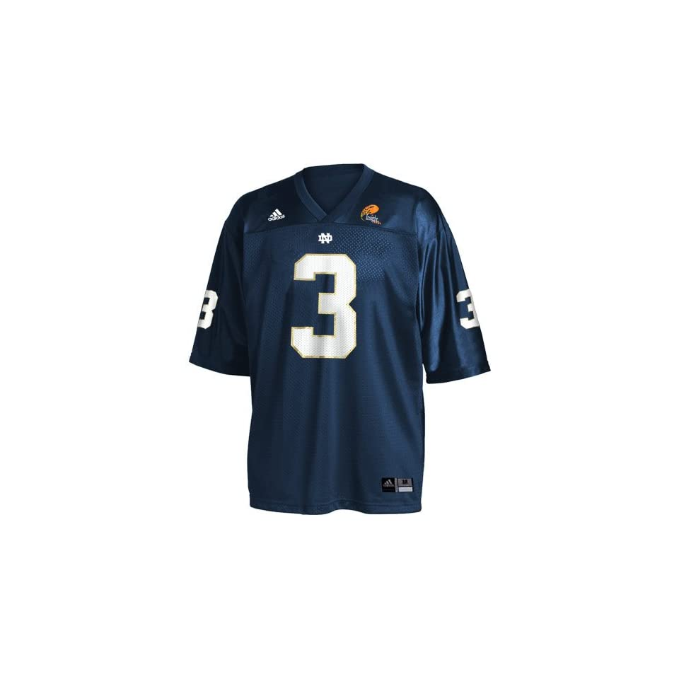 Adidas Notre Dame Fighting Irish #3 Navy 2004 Insight Bowl Replica Football Jersey