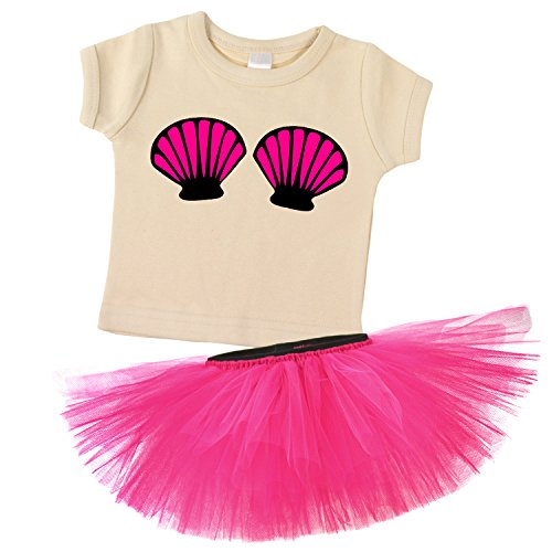 Mermaid Seashell Top & Hot Pink Playful Tutu Costume Set