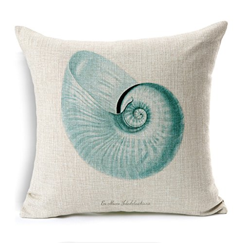 Kingla Home Square Pillow Covers Marine Animals Style Cotton Linen Decorative