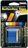 Incom RE185 1-Inch by 24-Inch Super Brite Fluorescent Reflective Tape, Blue