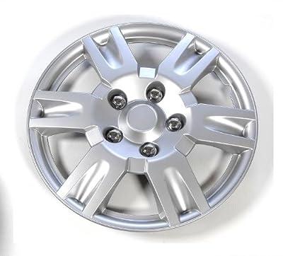 OxGord Wheel Cover/Hub Cap Silver/Lacquer
