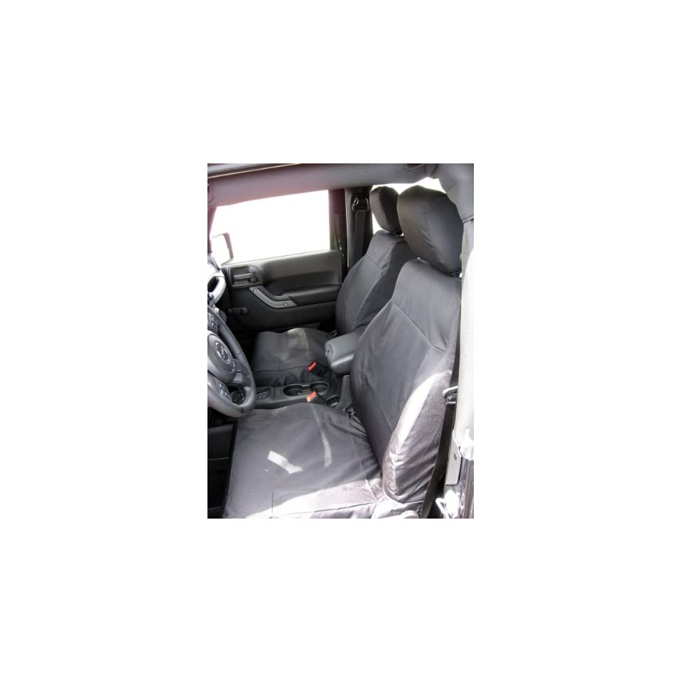 Exact Seat Covers, JP3 C1, 2011 Jeep Wrangler 2 Door Model Front Bucket Seats with Height Adjustment Lever and Rear Solid Bench Seat Custom Exact Fit Seat Covers, Black Waterproof Endura