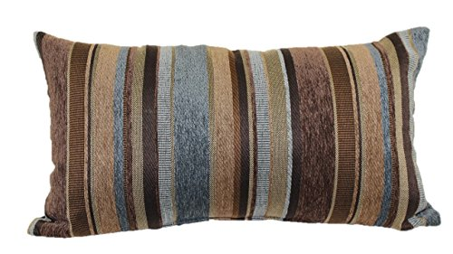 Brentwood Originals 2073 Carnival Stripe Toss Pillow, 14 by 24-Inch, Horizon