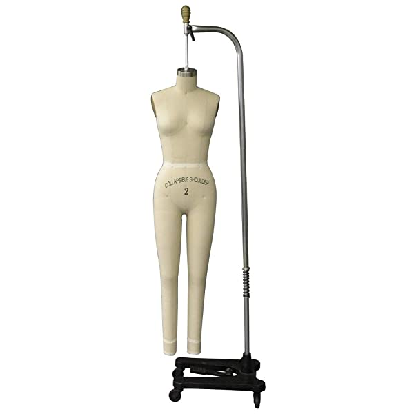 Adult Female Size 2 Full Body Professional Dress Form Pinnable Mannequin for Sewing with Right Arm #FULLSIZE2 (Color: Off White, Tamaño: Size 2)