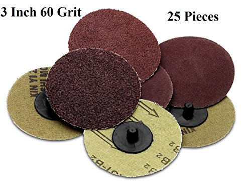 25-pieces-3-inch-60-grit-roll-lock-sanding-and-grinding-discs-for-rotary-tools-die-grinder-drill-car