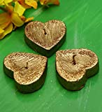 Blackberry Overseas Set Of 3 Heart Shaped Floating Candles.