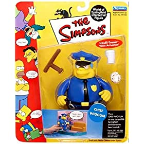 The Simpsons - 2000 - Playmates - Series 2 - Chief Wiggum Action Figure - w/Accessories - Intelli-Tronic Voice Activation - Out of Production - Limited Edition - Collectible