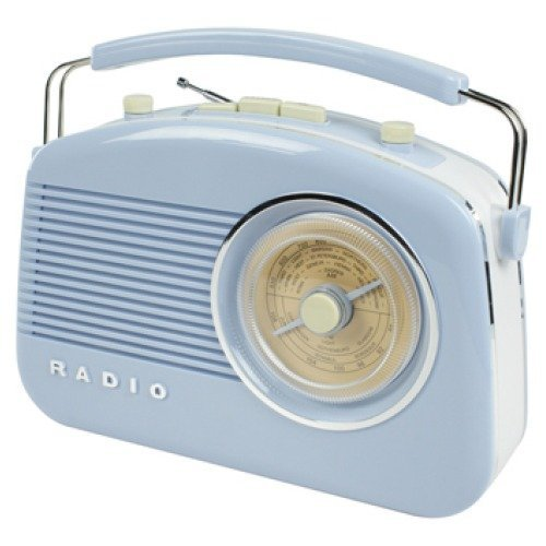 Konig Stylish Retro Table Radio - Baby Blue
