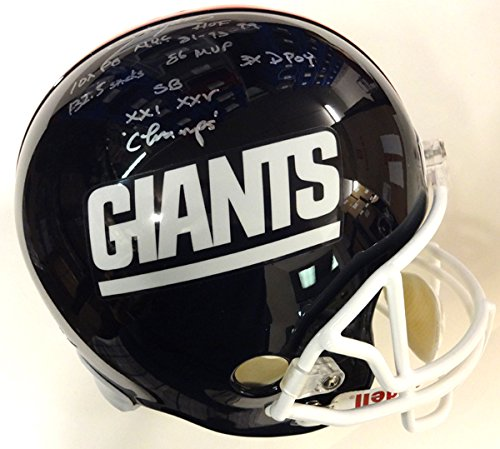 Lawrence Taylor Autographed New York Giants Full Size Stat