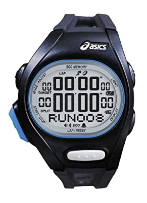 Asics Unisex Race CQAR0202 Black Polyurethane Quartz Watch with Digital Dial by Asics