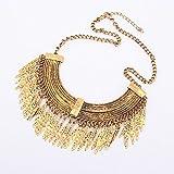 Willtoo(tm) 2015 New Women Fashion Gold Pendant Chain Choker Chunky Statement Bib Necklace