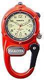Dakota ミニクリップウォッチ マイクロライト ダコタ 時計 ダコタウォッチ 釣り 登山 (オレンジ) 3805-1
