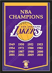 Dynasty Banner Of Los Angeles Lakers-Framed Awesome & Beautiful-Must For A... by Art and More, Davenport, IA