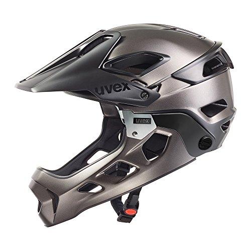 Uvex Casco da bici jakkyl HDE, Unisex, Fahrradhelm Jakkyl Hde, Black-Dark Silver Mat