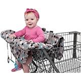 Grocery Cart Cover For Baby, Babyezz 2-In-1 Infant Shopping Cart & High Chair Cover With FREE Teething Toys