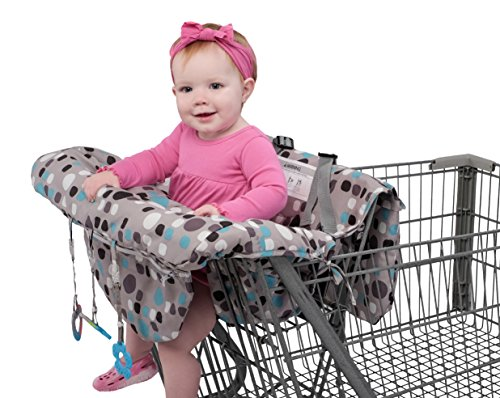 Babyezz 2-in-1 Shopping Cart & High Chair Cover for Baby- Machine Washable, Promo for FREE Teething Toys
