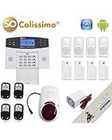 Kit Alarme de Maison sans fil GSM carte SIM avec Sirène Extérieure - Appli iPhone et Android