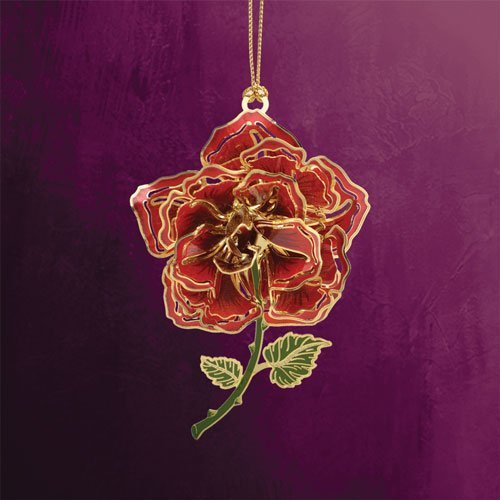 ChemArt Rose Ornament - Gold Finished Ornament