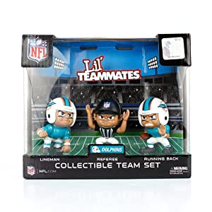 Miami Dolphins Official NFL Lil Teammates NFL Team Sets Toy Figures by Party Animal... by Party Animal