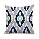 wendana Ikat Pillow Covers Decorative Square Throw Pillow Cases 18 x 18