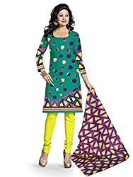 BAPUJI PRINT - WOMEN'S COTTON UNSTITCH DRESS MATERIALS - FULKI-105
