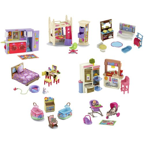 Fisher-Price Loving Family Dollhouse Furniture ~ Lot of 7 Sets