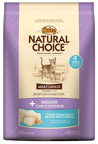 Natural Choice Indoor Adult Cat White Fish And Whole Brown Rice Formula Food, 14-Pound