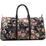 "Signare 22"" 45L (LARGE) ladies holdall bag/travel bag/weekend bag/cabin hand luggage/ Peony"