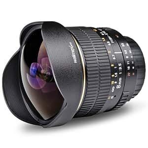 Fish-Eye walimex pro 8/3,5 pour monture Sony E
