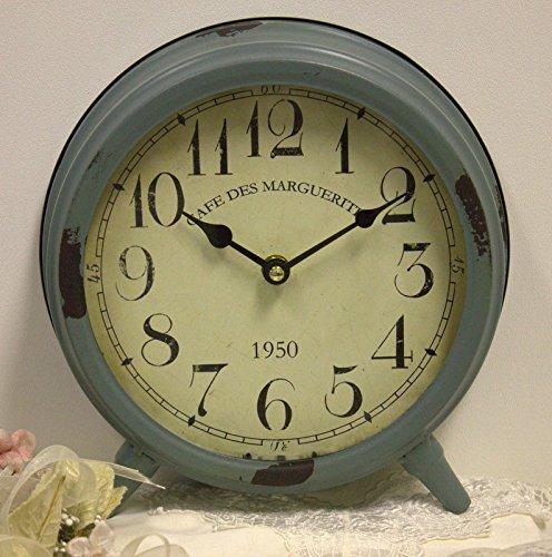 Shabby Cottage Chic Metal Desk Mantel Clock Home Decor