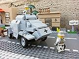 Modbrix 2366 - ✠ Wehrmacht Bausteine Panzerspähwagen Sd.Kfz. 222 inkl. custom Wehrmacht Soldaten aus original Lego© Teilen ✠ - 6