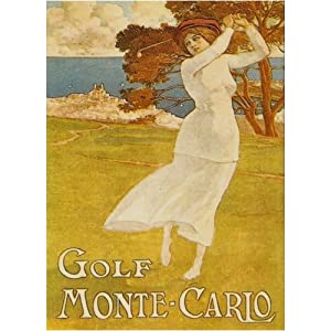 L1226 LARGE GOLF MONTE CARLO METAL ADVERTISING WALL SIGN RETRO ART