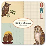 Cavallini 3-Pack Sticky Vintage Owls Memo Pads
