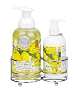 Lemon Basil Hand and Body Lotion and Foaming Shea Butter Hand Soap Set