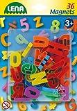 Lena 65745 - Magnet Groߟbuchstaben, 36 Stück, ca. 3 cm hergestellt von SIMM Spielwaren