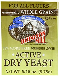 Hodgson Mill Active Dry Yeast, 0.31 Ounce (Pack of 48)
