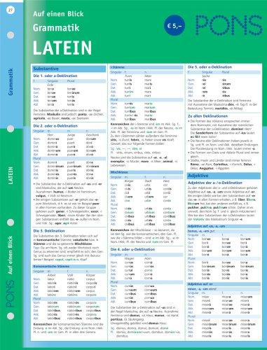 PONS Grammatik auf einen Blick. Latein
