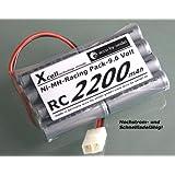 X-Cell accu-by-seidel RC - Racing Pack 9,6V 2200mAh Akku für Toy Fahrzeuge - Racing-Pack mit Tamiya-Stecker. Hochstrom- und Schnellladefähig